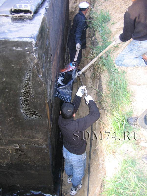 гидроизоляция бикрост, бикрост укладка фундамент