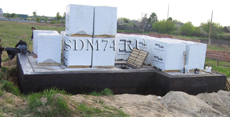 гидроизоляция бикростом, бикрост укладка фундамент