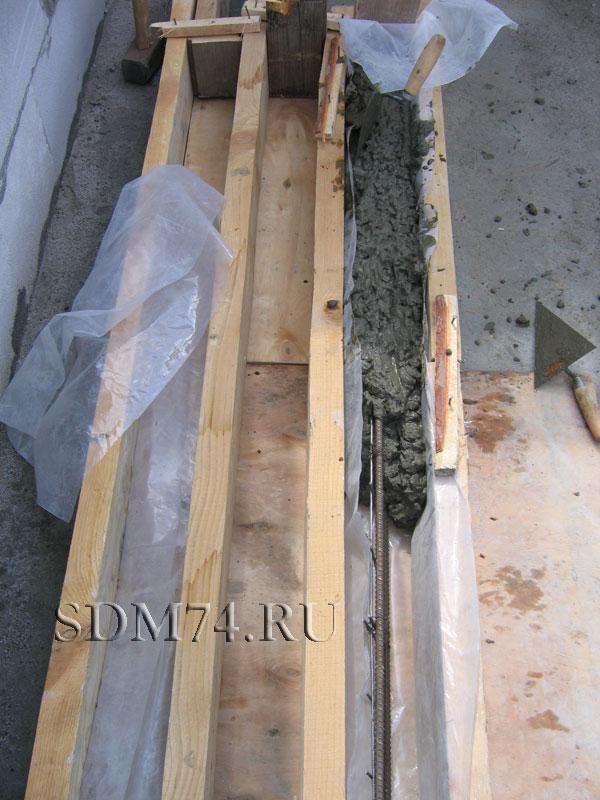опалубка заливка перекрытия окна